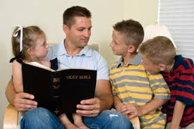 parents reading bible
